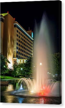 Canvas Print featuring the photograph Embassy Suites Huntsville by David Morefield