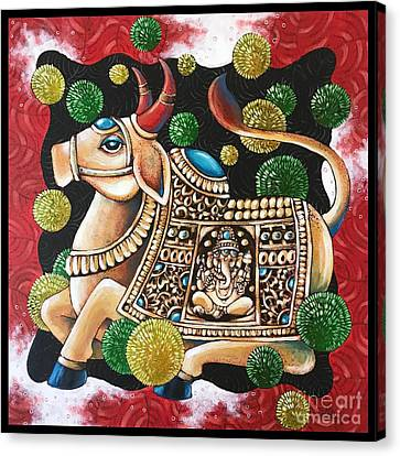 Embellished Steer Canvas Print