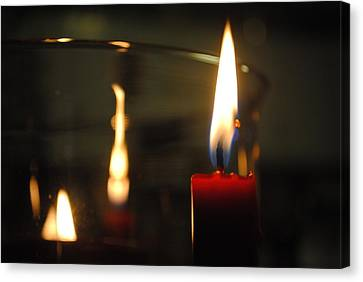 Candlelight Canvas Print by Giuseppe Puglisi