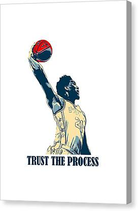Fed Canvas Print - Embiid Trust The Process by Achshuhar