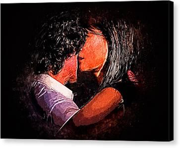 Tango Canvas Print - Embrace by Elzbieta Petryka