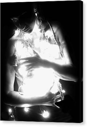 Embracing Light - Self Portrait Canvas Print by Jaeda DeWalt