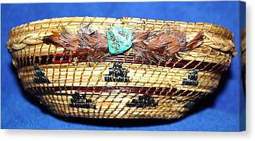 Embroidered Bowl With Braided Sides Canvas Print
