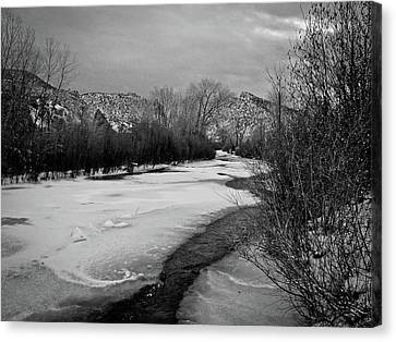 Embudo In Winter Canvas Print by Atom Crawford
