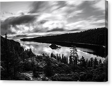 Canvas Print featuring the photograph Emerald Bay Black And White by Brad Scott
