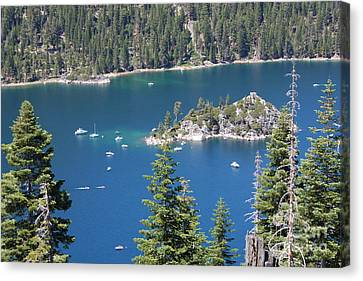 Boats In Water Canvas Print - Emerald Bay by Carol Groenen