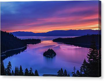 Emerald Bay Clouds At Sunrise Canvas Print by Marc Crumpler
