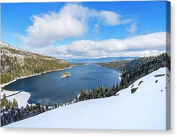Canvas Print featuring the photograph Emerald Bay Slopes by Brad Scott