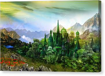 Emerald City Canvas Print by Mary Hood