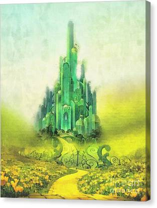 Shiny Canvas Print - Emerald City by Mo T
