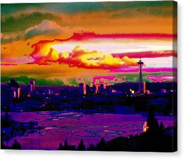Emerald City Sunset Canvas Print by Tim Allen