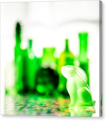 Emerald City V - Square Canvas Print by Jon Woodhams
