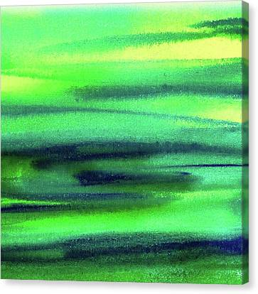 Emerald Flow Abstract Painting Canvas Print by Irina Sztukowski
