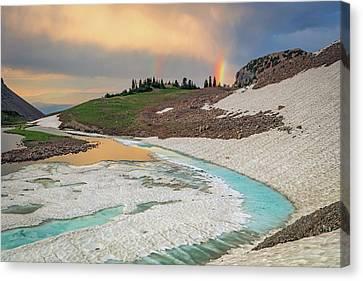 Emerald Lake Rainbow Canvas Print