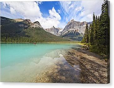 Emerald Lake Vista Canvas Print by George Oze