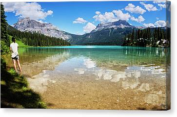 British Columbia Canvas Print - Emerald Lake Yoho National Park Canada by Joan Carroll