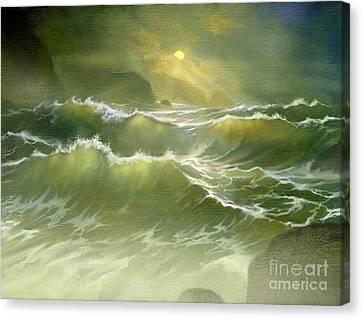 Emerald Sea Canvas Print by Robert Foster
