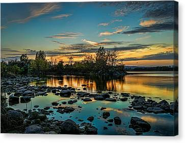 Emerald Sky Reflection Canvas Print