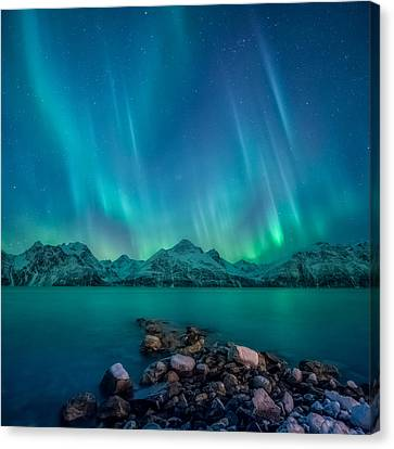 Norway Canvas Print - Emerald Sky by Tor-Ivar Naess