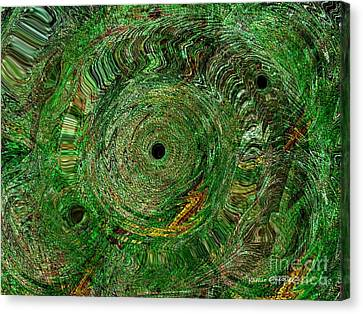 Emerald Swirls Canvas Print by Kathie Chicoine