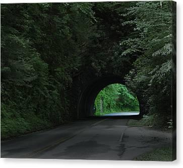 Emerald Tunnel Canvas Print