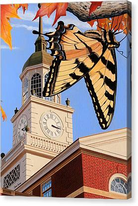 Emergence Of The Butterfly Canvas Print by Christopher Spicer