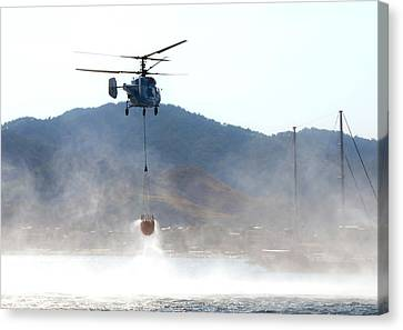 Emergency Helicopter Canvas Print by Svetlana Sewell
