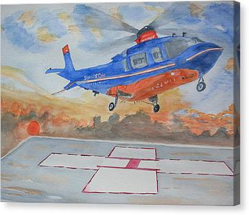 Emergency Landing Canvas Print by Warren Thompson