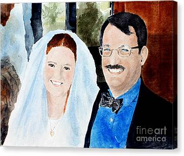 Emily And Jason Canvas Print by Monte Toon