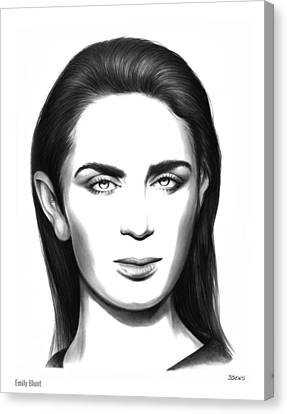 Emily Blunt Canvas Print by Greg Joens