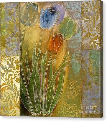 Emily Damask Tulips Canvas Print