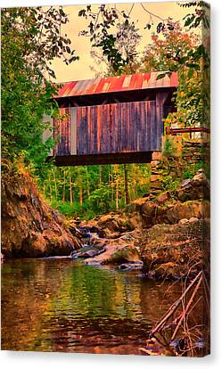 Emily's Covered Bridge Canvas Print by Jeff Folger