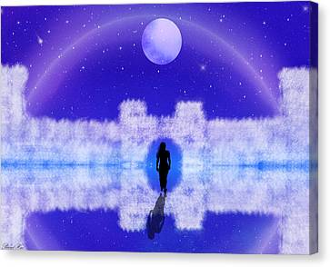 Canvas Print featuring the digital art Emily's Journey Part II by Bernd Hau