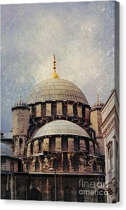 Eminonu New Mosque Canvas Print by Mohamed Elkhamisy