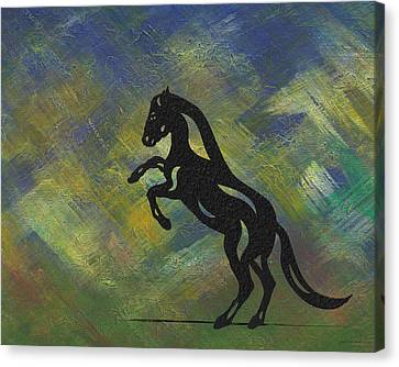 Emma - Abstract Horse Canvas Print