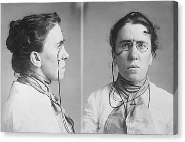 Emma Goldman 1869-1940 Mugshots. She Canvas Print by Everett