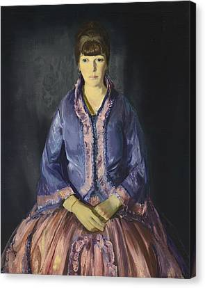 Emma In The Purple Dress Canvas Print by George Bellows