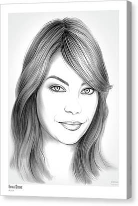 Emma Stone Canvas Print