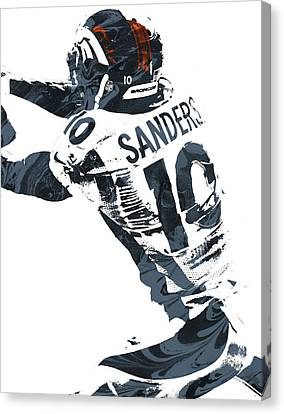 Emmanuel Sanders Denver Broncos Pixel Art Canvas Print by Joe Hamilton