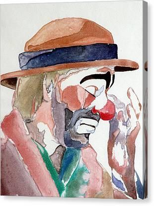Emmett Kelly Canvas Print by Donna Baruchi