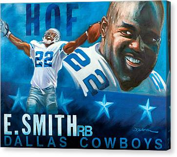 Emmit Smith Hof Canvas Print by Jim Wetherington