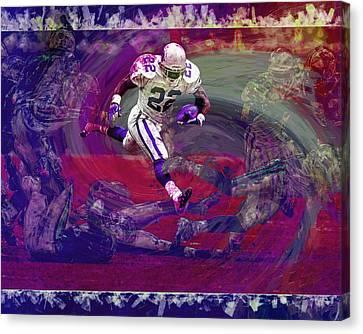 Emmitt Smith Dallas Cowboys Digital Painting Art Canvas Print by David Haskett