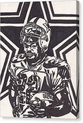 Emmitt Smith Canvas Print by Jeremiah Colley