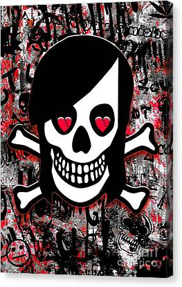 Emo Heart Breaker Canvas Print