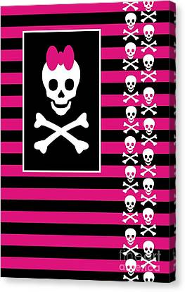 Emo Skull Princess Canvas Print