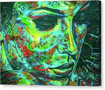 Emotion Green Canvas Print