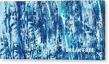 Life Line Canvas Print - Emotional Art Break Free   by Melanie Viola
