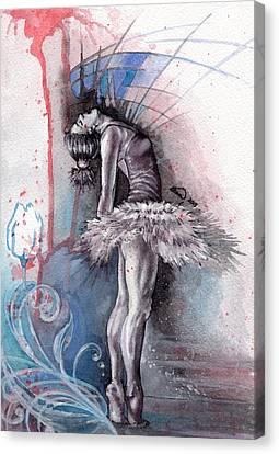 Emotional Ballet Dance Canvas Print