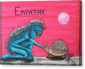 Empathetic Alien Canvas Print