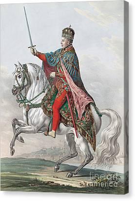 Emperor Ferdinand I Of Austria On Horseback Canvas Print